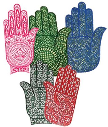 HENNA STENCIL (LARGE) (PACK OF 12)