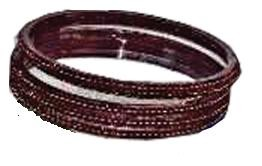 MAROON GLASS BANGLES SIZE (2.6)