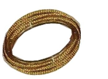 GOLDEN GLASS BANGLES SIZE (2.6)