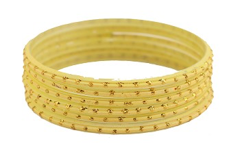 Creame Glass Bangles