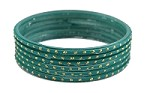 Radium Green Glass Bangles