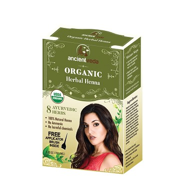 ANCIENT VEDA ORGANIC HERBAL HENNA WITH HERBS 150 GMS