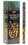 HEM ATTRACTS MONEY INCENSE 8 STICKS SQUARE PACK