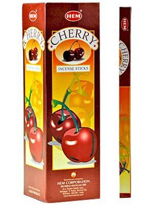 HEM CHERRY INCENSE 8 STICKS SQUARE PACK