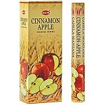 HEM CINNAMON APPLE INCENSE 20 STICKS HEX PACK
