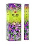 HEM IRIS INCENSE 20 STICKS HEX PACK