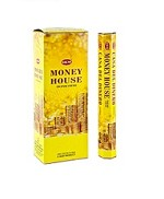 HEM MONEY HOUSE INCENSE 20 STICKS HEX PACK