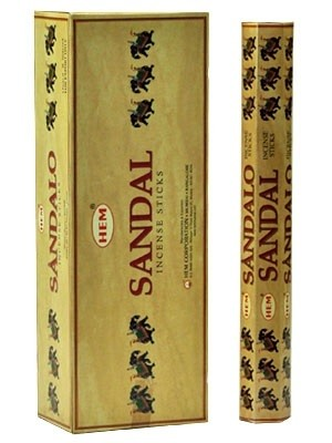 HEM SANDALO INCENSE 20 STICKS HEX PACK