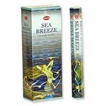 HEM SEA BREEZE INCENSE 20 STICKS HEX PACK