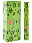 HEM SWEETGRASS INCENSE 20 STICKS HEX PACK