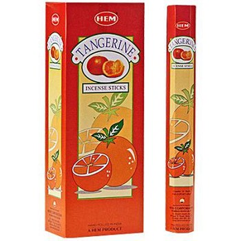HEM TANGERINE INCENSE 20 STICKS HEX PACK