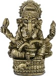 BRASS FINISH GANESHA