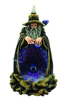 Wizard Casting Spell Back Flow Burner with LED In Blue