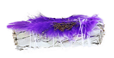 White Sage with Purple Feather