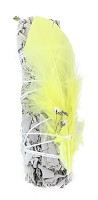 White Sage with Yellow Feather 4