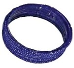 BLUE GLASS BANGLES SIZE (2.8)