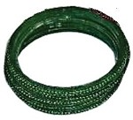 DARK GREEN GLASS BANGLES SIZE (2.8)