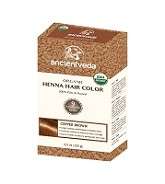 ANCIENT VEDA ORGANIC COPPER BROWN HENNA HAIR COLOR 100 GMS