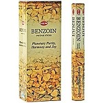 HEM BENZOIN INCENSE 20 STICKS HEX PACK
