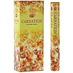 HEM CARNATION INCENSE 20 STICKS HEX PACK
