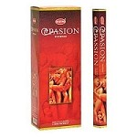 HEM PASSION INCENSE 20 STICKS HEX PACK