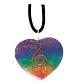 7 CHAKRA ORGONE CRYSTAL NECKLACE 3.5CM